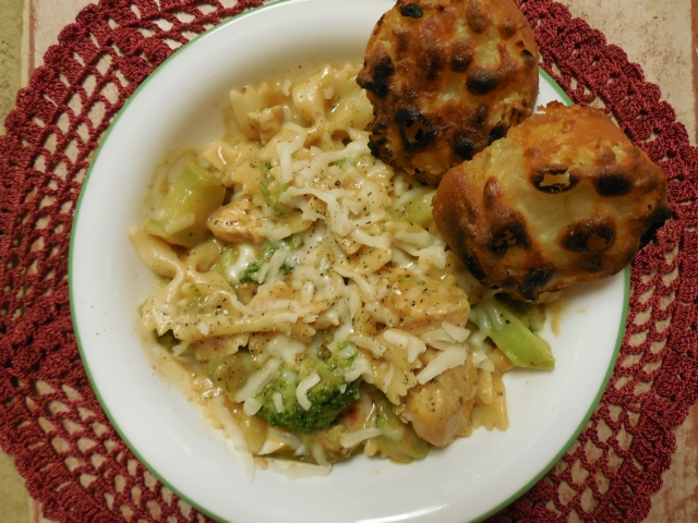 served here with creamy chicken farfalle (that's for another post!)