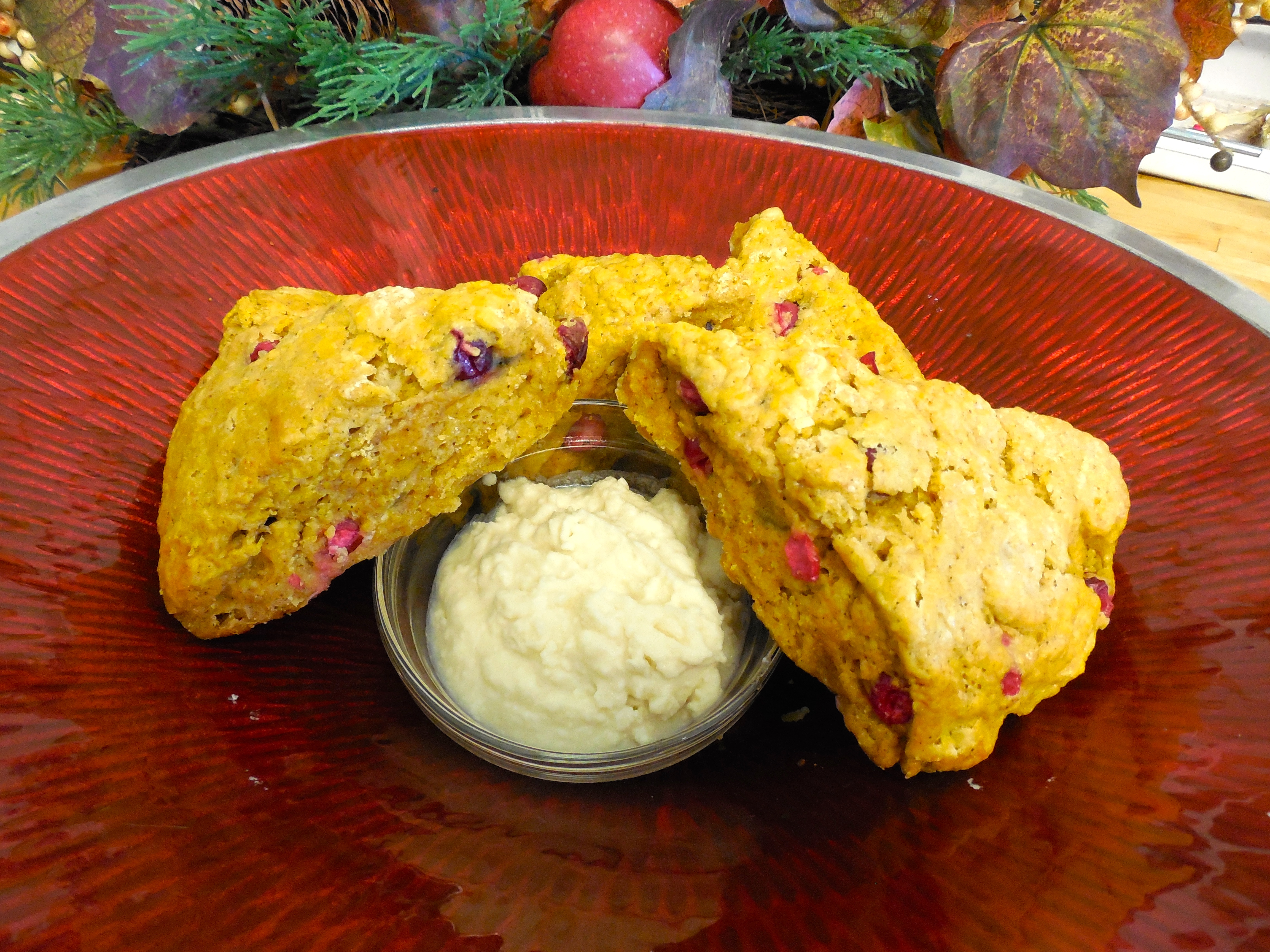... Cranberry and Pumpkin Scones with Whipped Maple Butter | Wine to